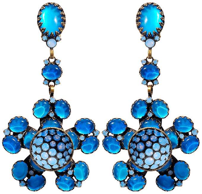 Blau Hybrid Clip Ohrring Orchid Konplott WQroExedCB